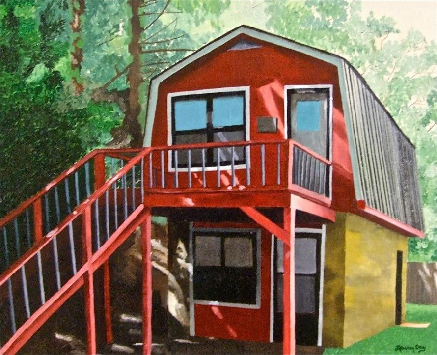 The Cabin; 14x16 oil on canvas; commission piece