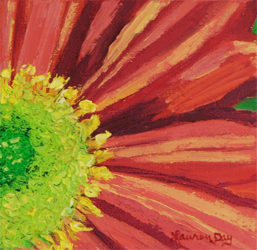 Daisy; 5x5 oil on canvas; SOLD