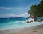 Manuel Antonio, Costa Rica; 16x20 oil on canvas; commission piece