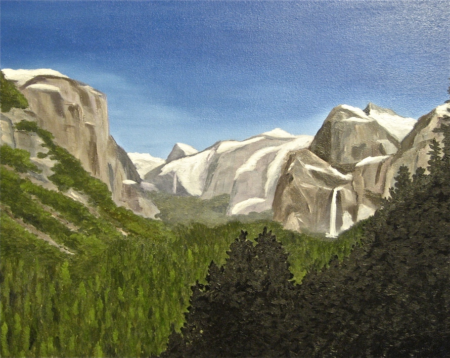 Yosemite; 16x20 oil on canvas; commission piece