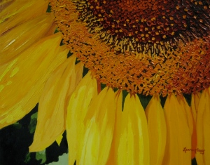 Sunflower; 16x20 oil on canvas