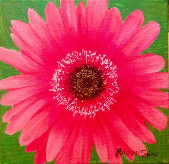 Daisy; 8x8 oil on canvas