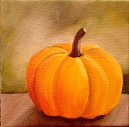 lauren spires fine art _pumpkin painting in progress