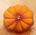 lauren spires fine art_pumpkin_5x5 oil on wrapped canvas