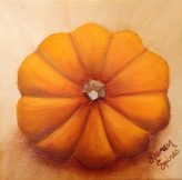 lauren spires fine art_pumpkin_5x5 oil on wrapped canvas
