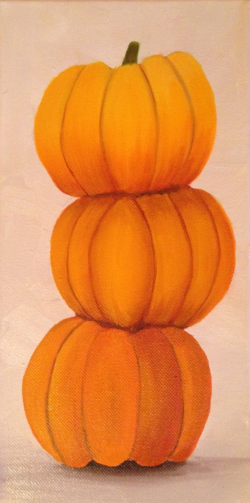 lauren spires fine art_pumpkin trio in progress