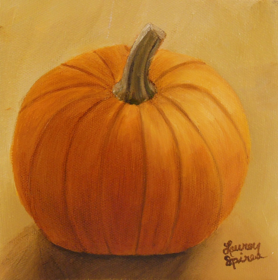 Pumpkin V; 6x6 oil on canvas