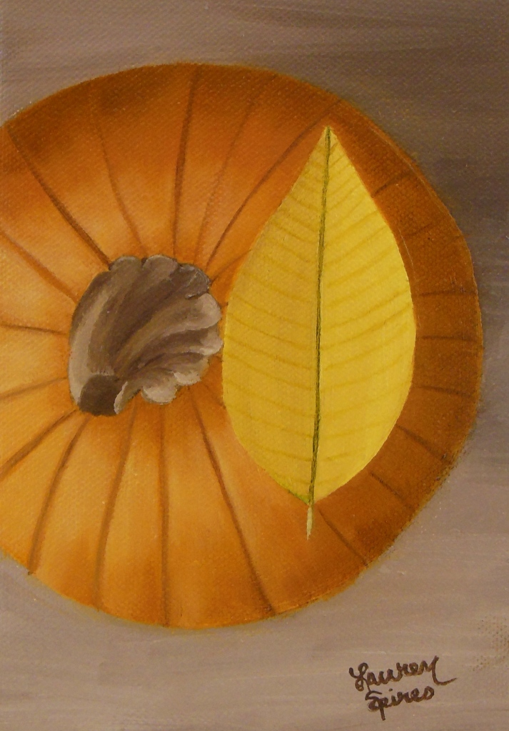 Pumpkin III; 5x7 oil on canvas
