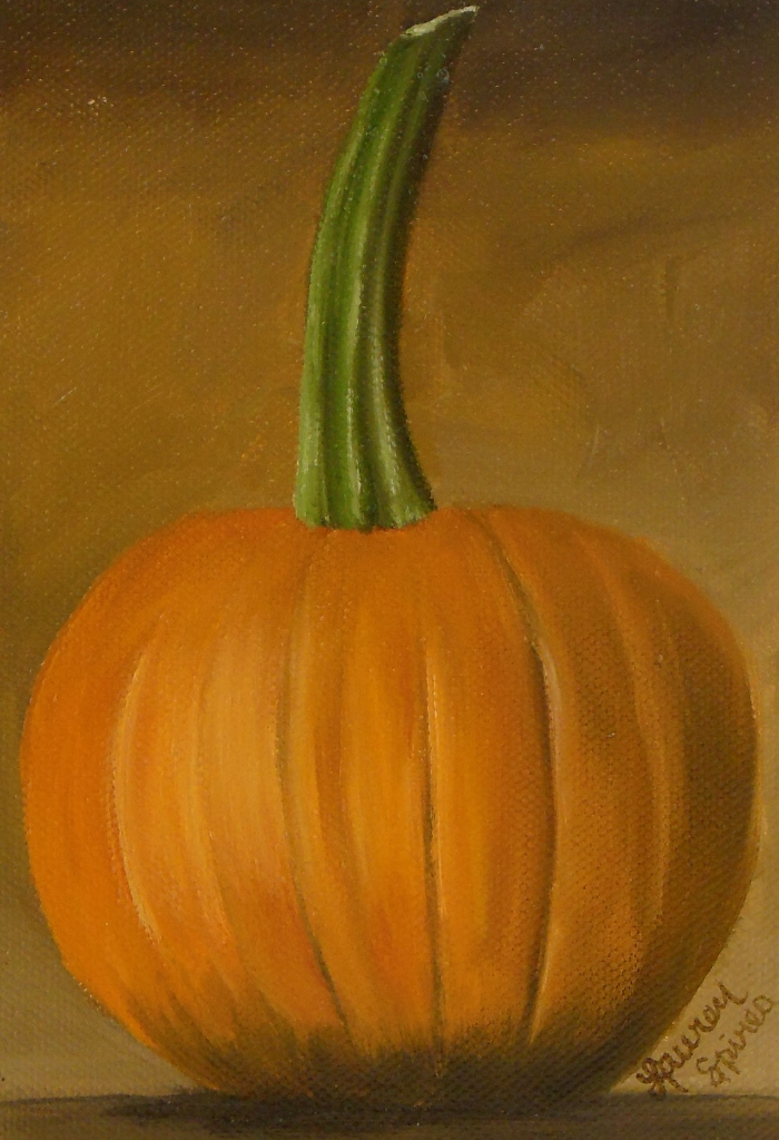 Pumpkin II; 5x7 oil on canvas