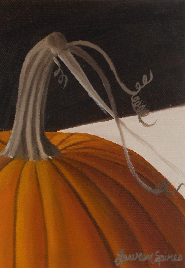 Pumpkin I; 5x7 oil on canvas