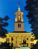 Tennessee State Capitol at dusk; 16x20 oil on canvas; original oil painting