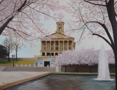 Tennessee State Capitol;18x22 oil on canvas