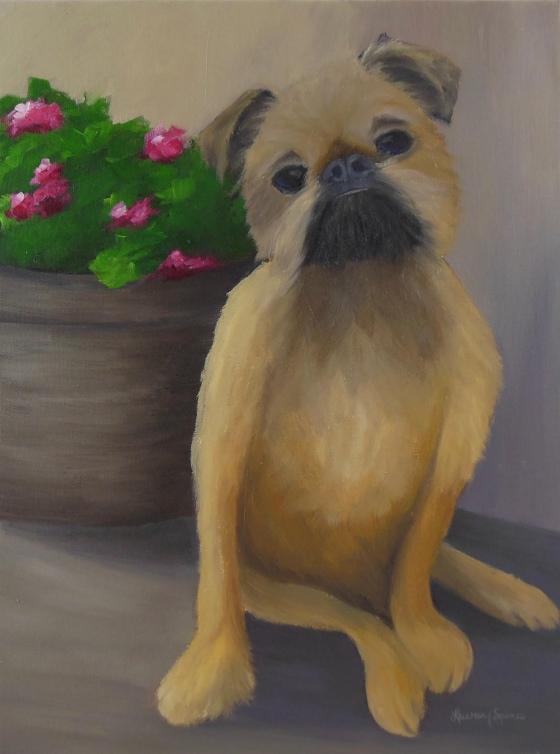 Mattie; 12x16 oil on canvas