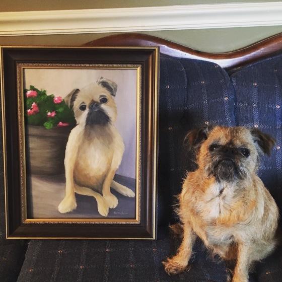 Mattie with her portrait!
