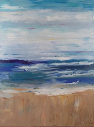 Beach Abstract; 18x24 oil on canvas; 2 of 3