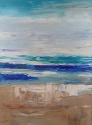 Beach Abstract; 18x24 oil on canvas; 3 of 3