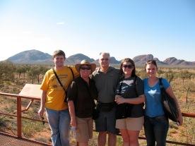 Family photo at Kata Tjuta