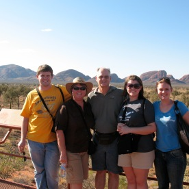 Family photo at Kata Tjuta