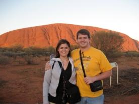 My brother and I at Uluru