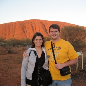 My brother and I at Uluru