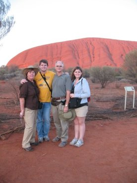 Sunrise over Uluru with my family