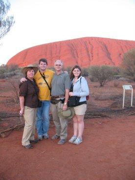 Sunrise over Uluru with my family