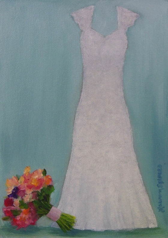 lauren spires fine art_wedding dress painting_wedding dress art