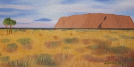 Uluru; 12x24 oil on canvas