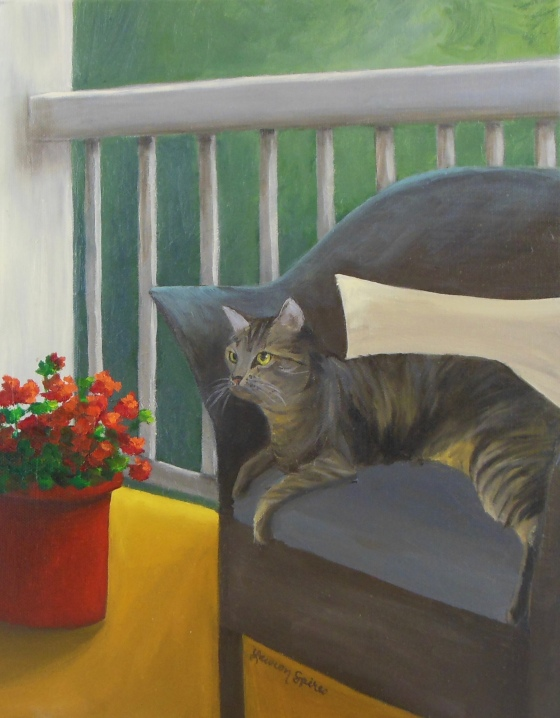 Gracie; 11x14 oil on canvas